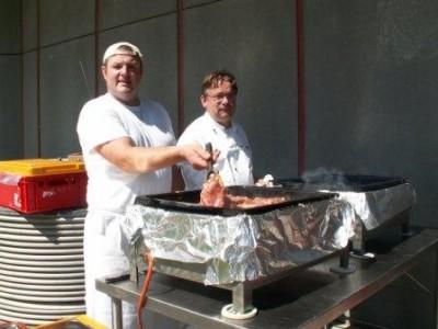 Die Chefköche Peter Wiesmüller und Günther Rogner sorgten für das leibliche Wohl der Gäste