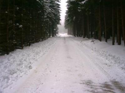 Schnee tüpl Strasse