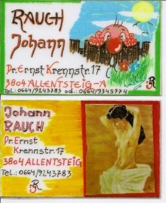 Visitenkarten von Johann Rauch