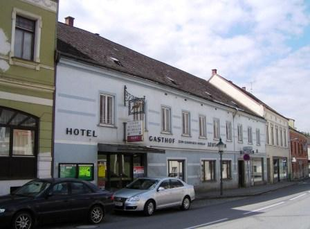 Leere Geschäfte Hotel Leutmezer