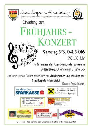 Stadtkapelle Allentsteig konzert 2016